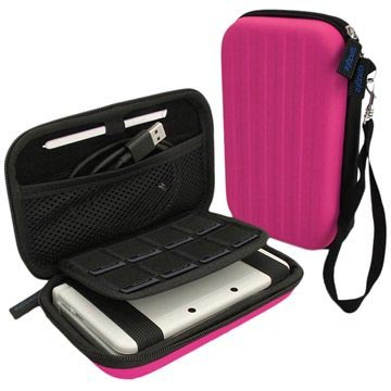 Nintendo 3DS XL iGadgitz EVA Carrying Cover Roze