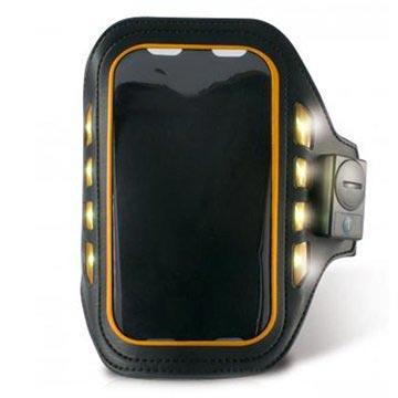 iPhone 5-5S-SE Ksix Led Sport Armband Zwart