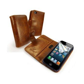 Tuff-Luv Vintage Leather Wallet-case case iPhone 5-5s-brn