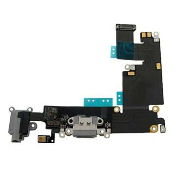 iPhone 6 Plus Oplaad Connector Flexkabel Donkergrijs