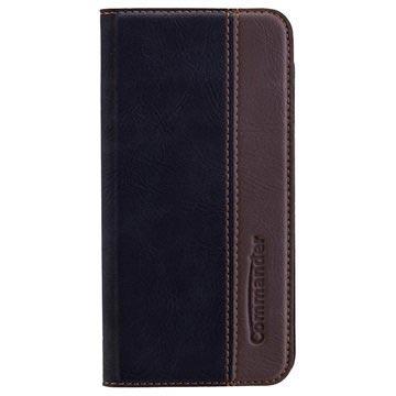 iPhone 7 Commander Book Flip Case Gentle Zwart
