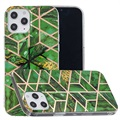 Marble Pattern Gegalvaniseerd IMD iPhone 12 Pro Max TPU Hoesje