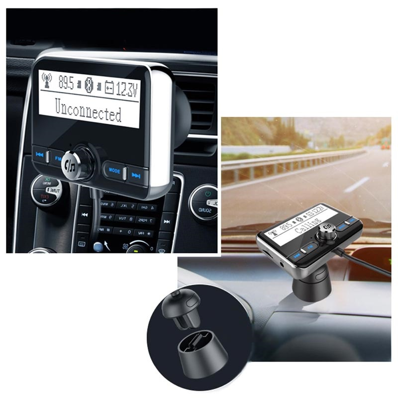 2xUSB Autolader & FM Transmitter/MP3 Mediaspeler met LED-display