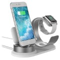 3-in-1 Houder / Dock station voor iPhone, AirPods, Apple Watch - Zilver