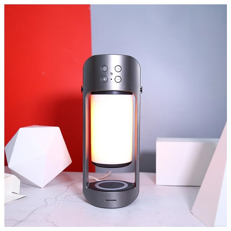 3-in-1 Draagbare Bluetooth Speaker / Draadloze Oplader / LED Lamp