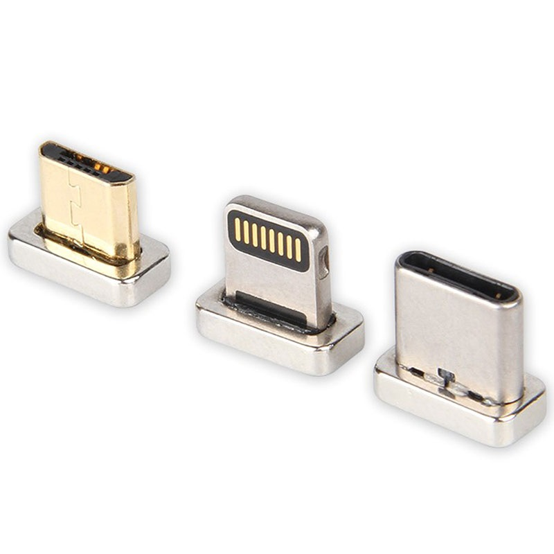3-in-1 Magnetische Kabel - Lightning, MicroUSB, Type-C