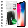 iPhone X 4smarts Curved Glass Screenprotector - Zwart
