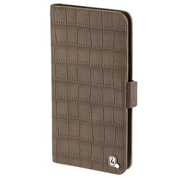 "4smarts UltiMAG Book Norwalk Universeel Wallet Case - 5.8"" - Croco Bruin"
