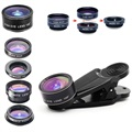 5-In-1 Universele Clip-On Camera Lens Kit Voor Smartphone, Tablet