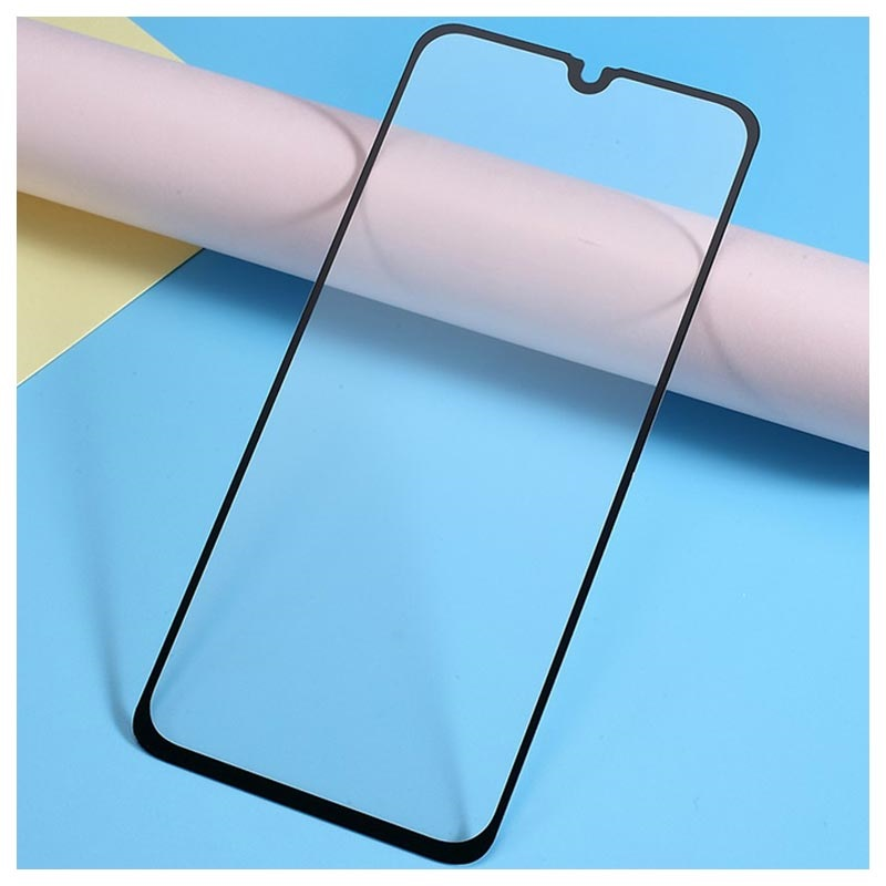 9D Full Cover Samsung Galaxy A40 Glazen Screenprotector - 9H - Zwart