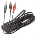 AUX Adapter - 2 x RCA / 3,5mm Stereo Jack - 3m