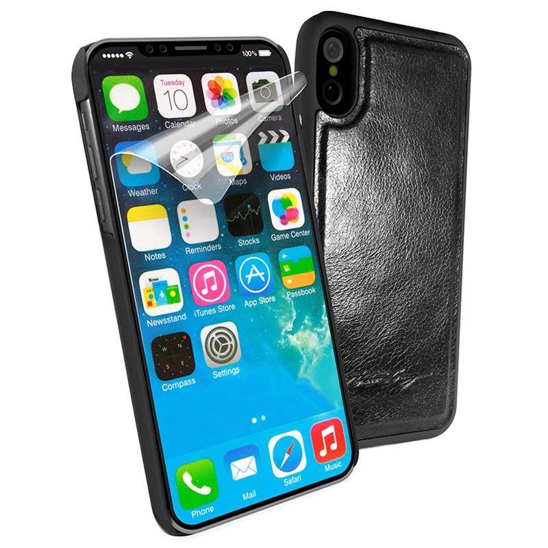 iphone x iphone xs alston craig magnetisch leder cover. Black Bedroom Furniture Sets. Home Design Ideas