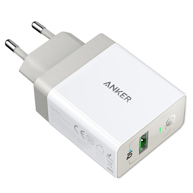 Anker PowerPort+ 1 Quick Charge 3.0 Muurlader - Wit
