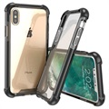 iPhone X Anti-Shock Hybrid Crystal Case - Doorzichtig / Zwart