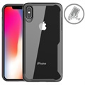 Anti-Shock iPhone XS Max Hybrid Case - Zwart / Doorzichtig