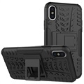 iPhone X Anti-Slip Hybrid Case - Zwart