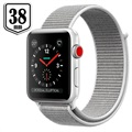 Apple Watch Series 3 LTE MQKJ2ZD/A - Aluminium, Sportbandje, 38mm, 16GB - Seashell/Zilver