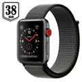Apple Watch Series 3 LTE MQKK2ZD/A - Aluminium, Sportbandje, 38mm, 16GB - Donker Olijfgroen/Spacegrijs
