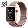Apple Watch Series 3 LTE MQKL2ZD/A - Aluminium, Sportbandje, 38mm, 16GB - Rozenkwarts/Goud