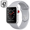 Apple Watch Series 3 LTE MQKM2ZD/A - Aluminium, Sportbandje, 42mm, 16GB - Zilver/Mistgrijs
