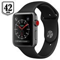 Apple Watch Series 3 LTE MQKN2ZD/A - Aluminium, Sportbandje, 42mm, 16GB - Spacegrijs/Zwart