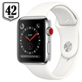 Apple Watch Series 3 LTE MQLY2ZD/A - Roestvrij Staal, Sportbandje, 42mm, 16GB