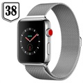 Apple Watch Series 3 LTE MR1N2ZD/A - Roestvrij Staal, Milanees Bandje, 38mm, 16GB - Seashell/Zilver