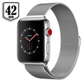 Apple Watch Series 3 LTE MR1U2ZD/A - Roestvrij Staal, Milanees Bandje, 42mm, 16GB - Zilver/Seashell