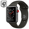 Apple Watch Series 3 LTE MR302ZD/A - Aluminium, Sportbandje, 42mm, 16GB - Spacegrijs/Grijs
