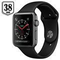 Apple Watch Series 3 MQKV2ZD/A - Aluminium, Sportbandje, 38mm, 8GB - Spacegrijs/Zwart