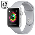 Apple Watch Series 3 MQL02ZD/A - Aluminium, Sportbandje, 42mm, 8GB - Zilver/Mistgrijs