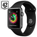 Apple Watch Series 3 MQL12ZD/A - Aluminium, Sportbandje, 42mm, 8GB - Spacegrijs/Zwart
