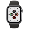 Apple Watch Series 5 LTE MWWK2FD/A - Roestvrij Staal, Sportbandje, 44mm - Spacezwart