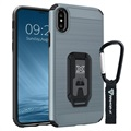iPhone X Armor-X CX-IPHX-GM Shockproof Rugged Cover - Metal Silver