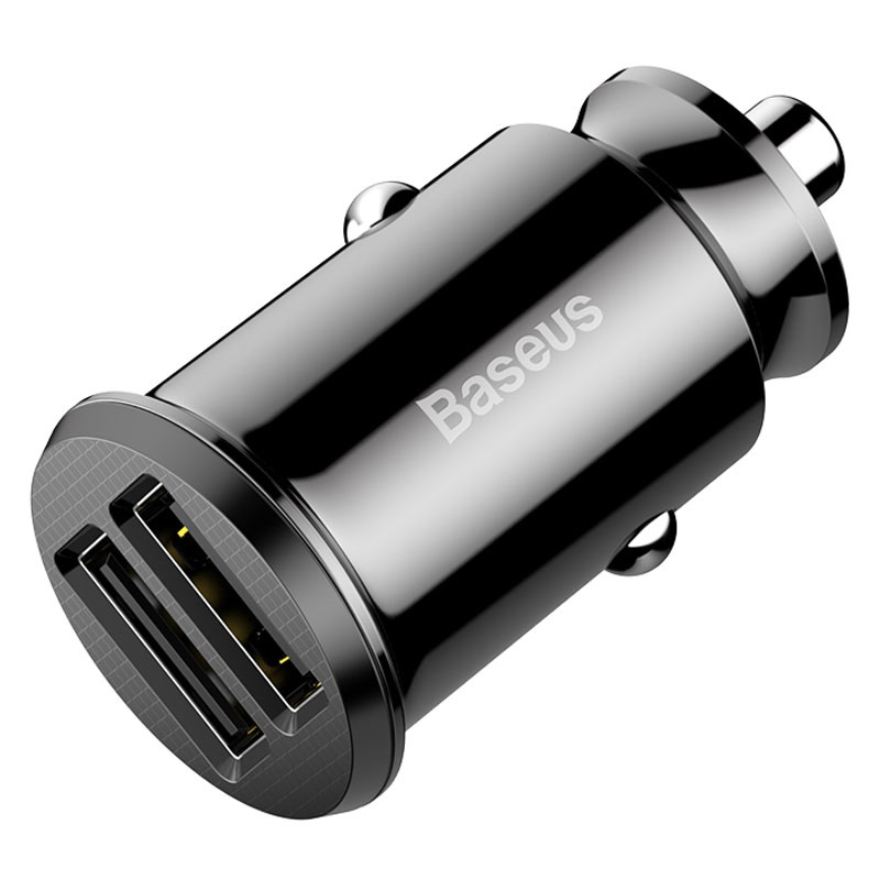 Baseus Grain Mini Smart Dubbele USB Autolader - 3.1A