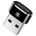 Baseus Mini USB 2.0 / USB 3.1 Type-C Adapter - Zwart