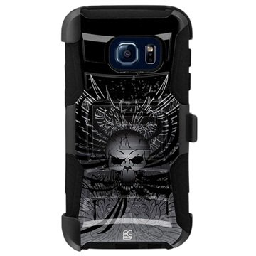 Samsung Galaxy S7 Beyond Cell Armor Combo Design Case Wing Skull