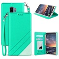 Samsung Galaxy S9+ Beyond Cell Infolio C Wallet Case - Mint / Wit