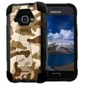 Samsung Galaxy J1 (2016) Beyond Cell Hyber V2 Shell Cover - Woestijn Camouflage