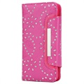 iPhone X Bling Series Onzichtbare Wallet Case - Hot Pink
