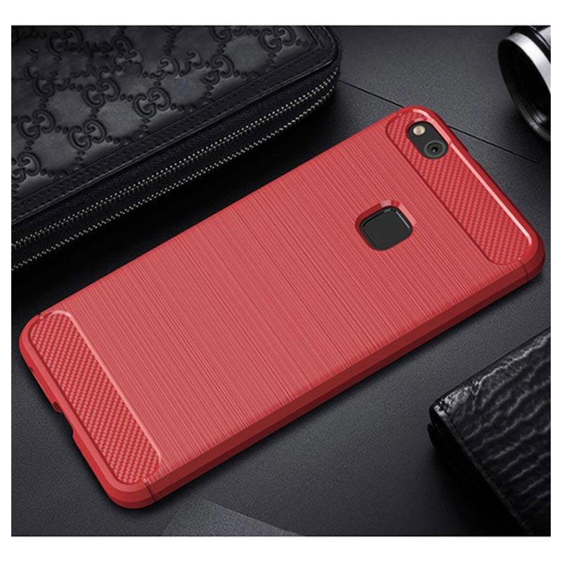 Rouge Brossé Cas Tpu Pour Huawei Lite P10 KEXTi6bhlm
