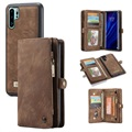 Caseme 2-in-1 Multifunctionele Huawei P30 Pro Wallet Case - Bruin