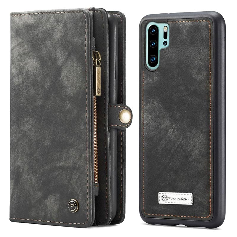 Caseme 2-in-1 Multifunctionele Huawei P30 Pro Wallet Case - Grijs