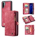 Caseme 2-in-1 Multifunctionele Huawei P30 Pro Wallet Case - Rood