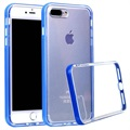 iPhone 7 Plus / iPhone 8 Plus Doorzichtig Series Hybrid Case - Blauw