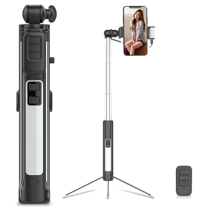 Cyke A18 Multifunctionele 4-in-1 Bluetooth Selfie Stick