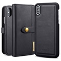 DG.Ming 2-in-1 iPhone X / iPhone XS Wallet Leren Hoesje