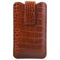 iPhone 6/6S/7/8 Plus Doormoon Leder Pouch - Crocodile - Bruin