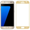 Samsung Galaxy S7 Fema 3D Full Size Glazen Screenprotector - Goud