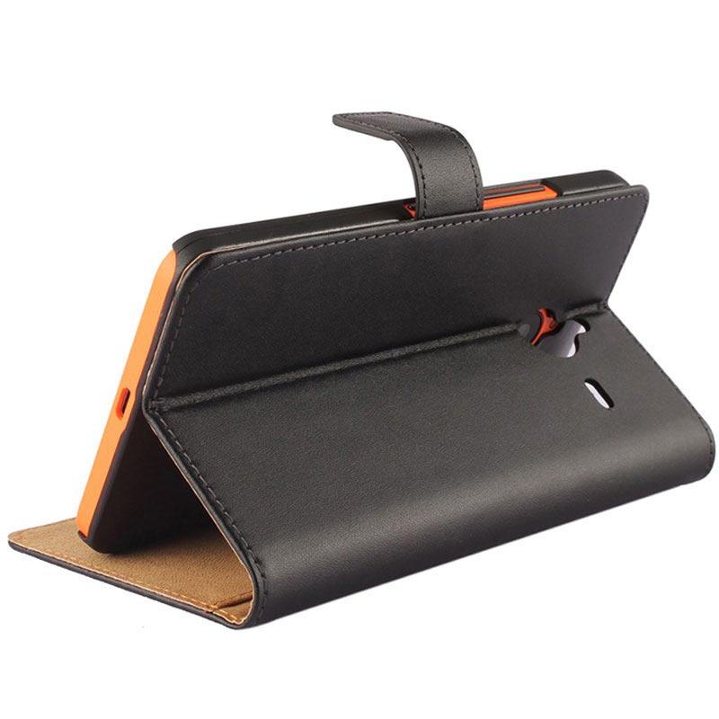 ... Lumia 640 XL, Lumia 640 XL Dual SIM Wallet Leren Hoesje - Zwart